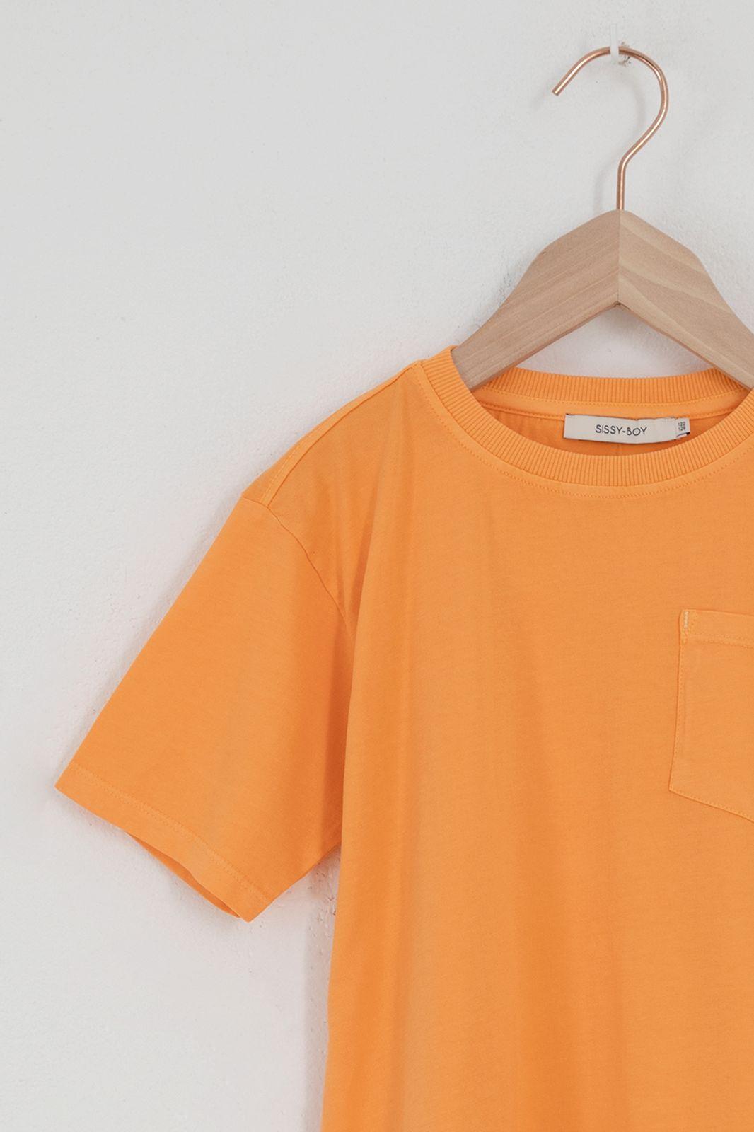 Oranje katoenen T-shirt met korte mouw - Kids | Sissy-Boy