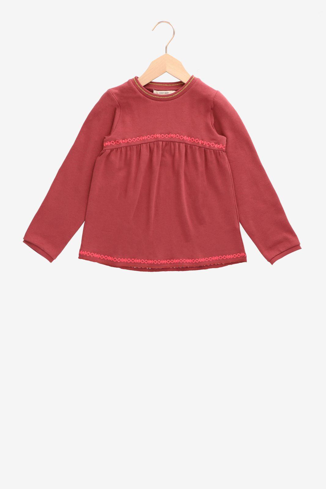 Oudroze sweater met borduursels - Kids   Sissy-Boy