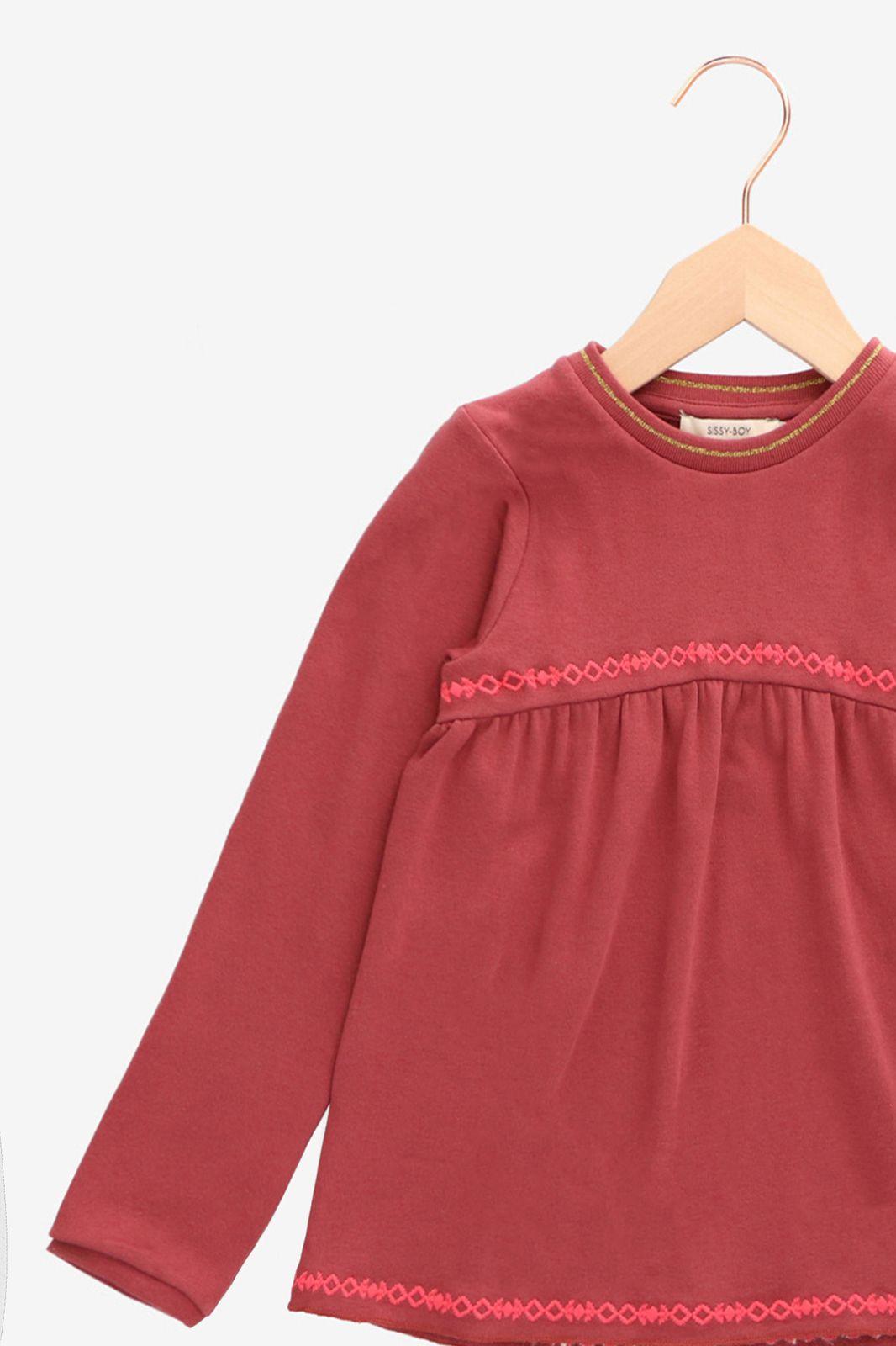 Oudroze sweater met borduursels - Kids | Sissy-Boy