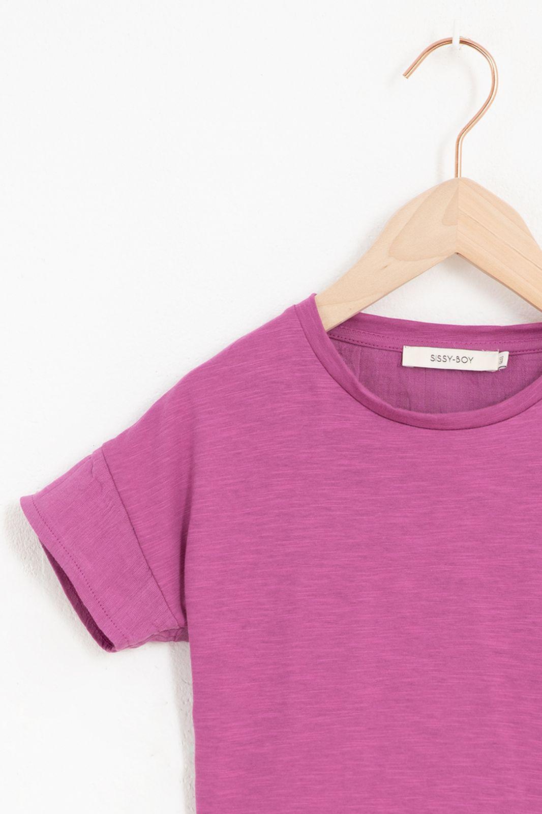 Paars mousseline T-shirt met korte mouw - Kids | Sissy-Boy