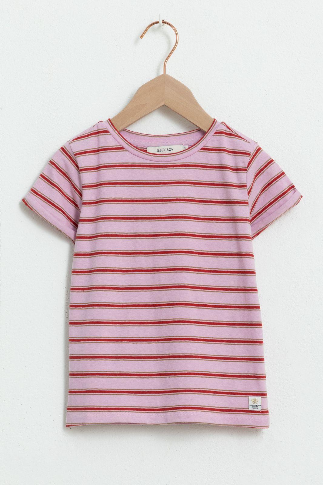 Multicolor gestreept T-shirt met korte mouwen - Kids | Sissy-Boy