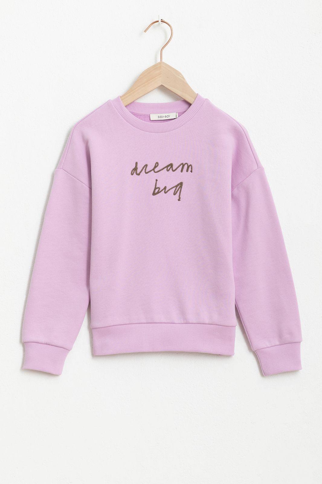 Lila sweater met tekst - Kids | Sissy-Boy