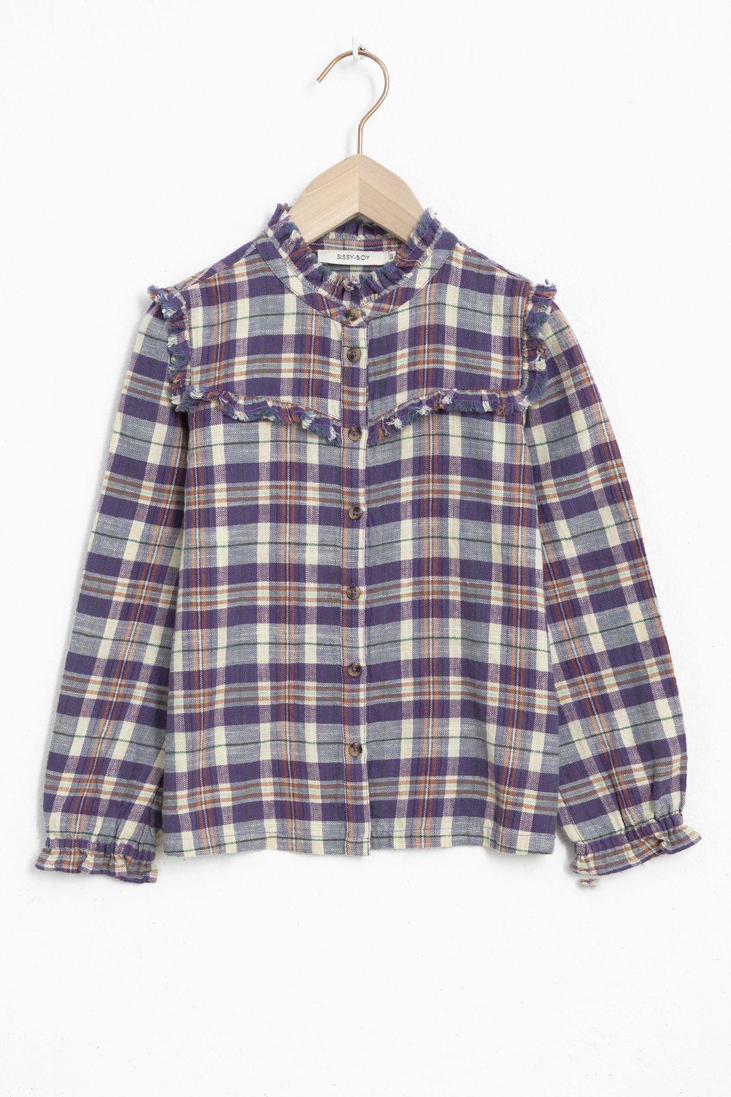 Paarse geruite blouse - Kids | Sissy-Boy
