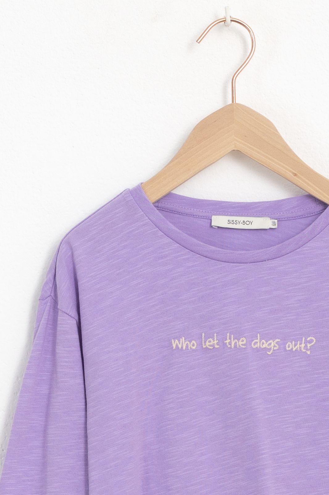 Paars t-shirt met tekst - Kids | Sissy-Boy