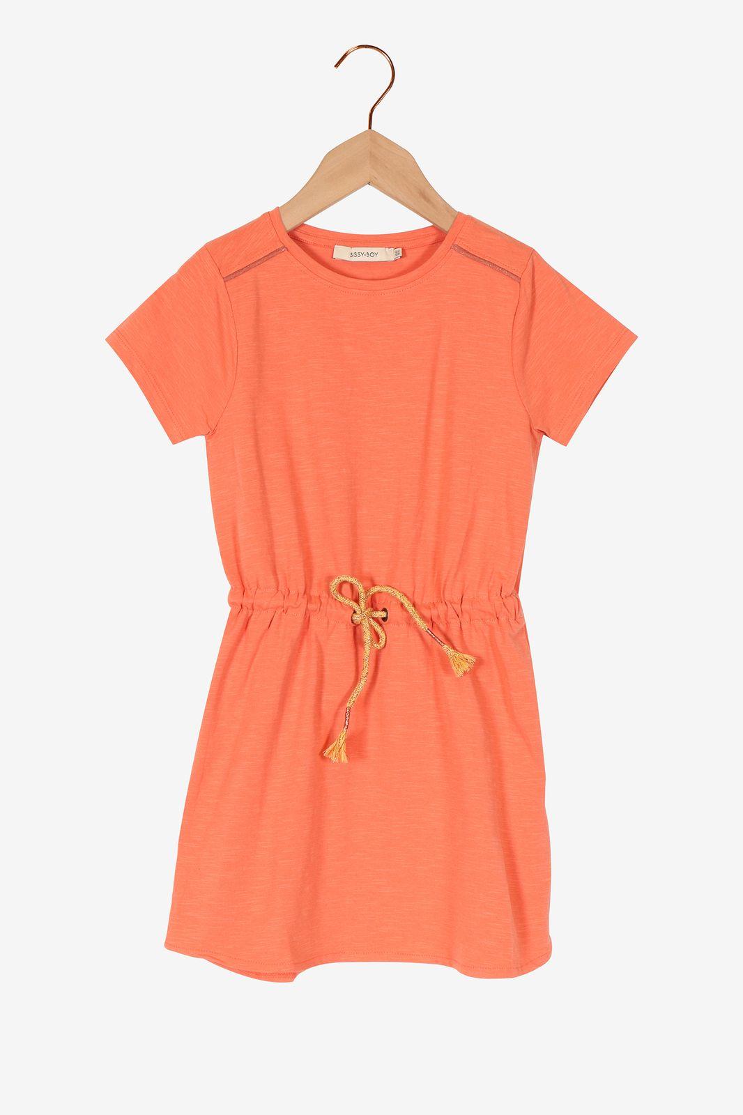Roze jurk met koord