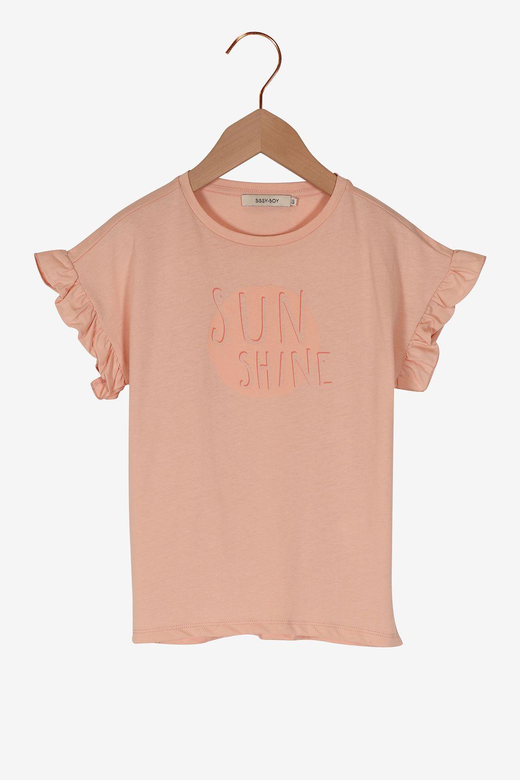 Roze t-shirt sunshine