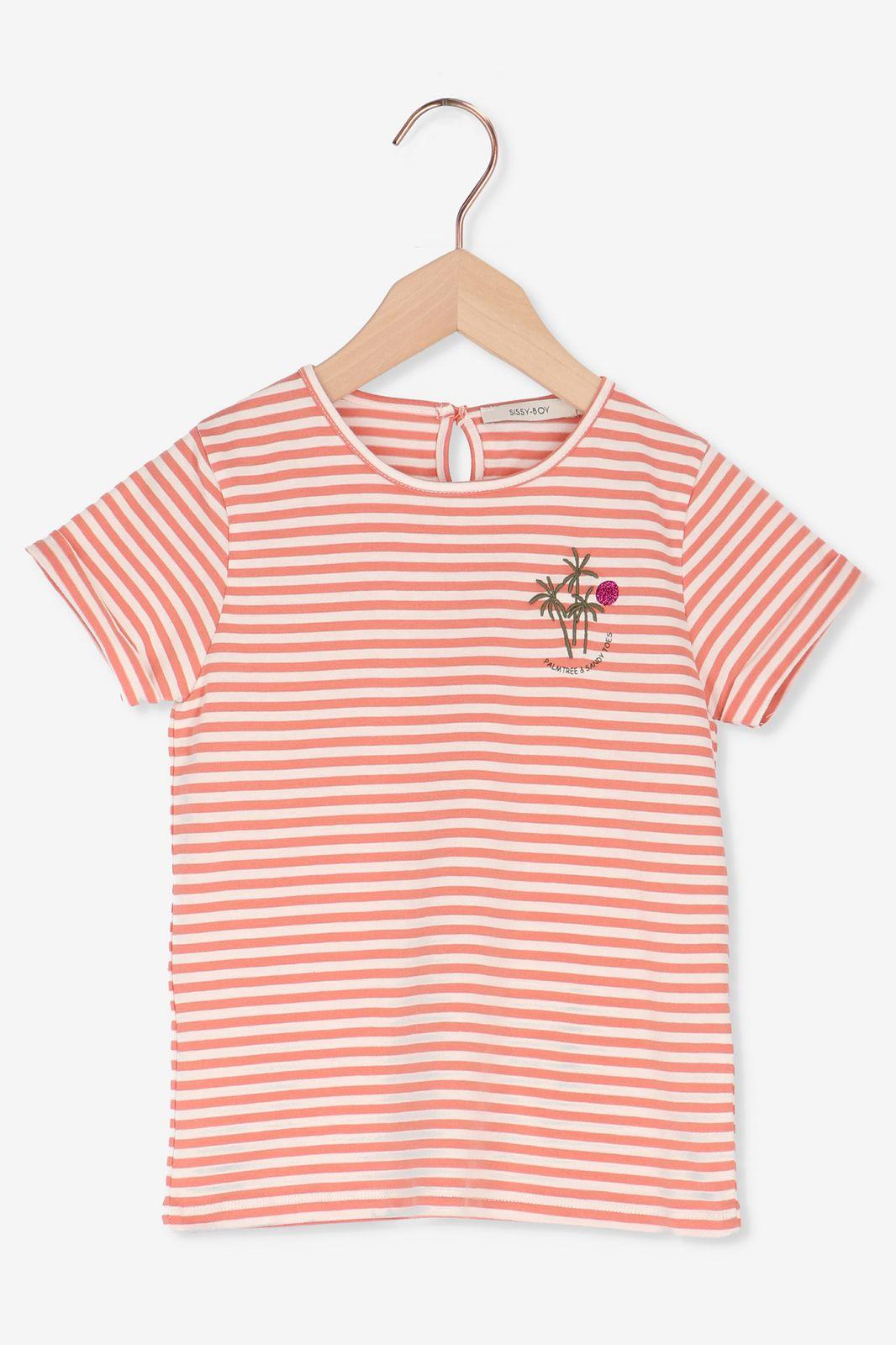 Rood gestreept t-shirt met palmbomen - Kids | Sissy-Boy