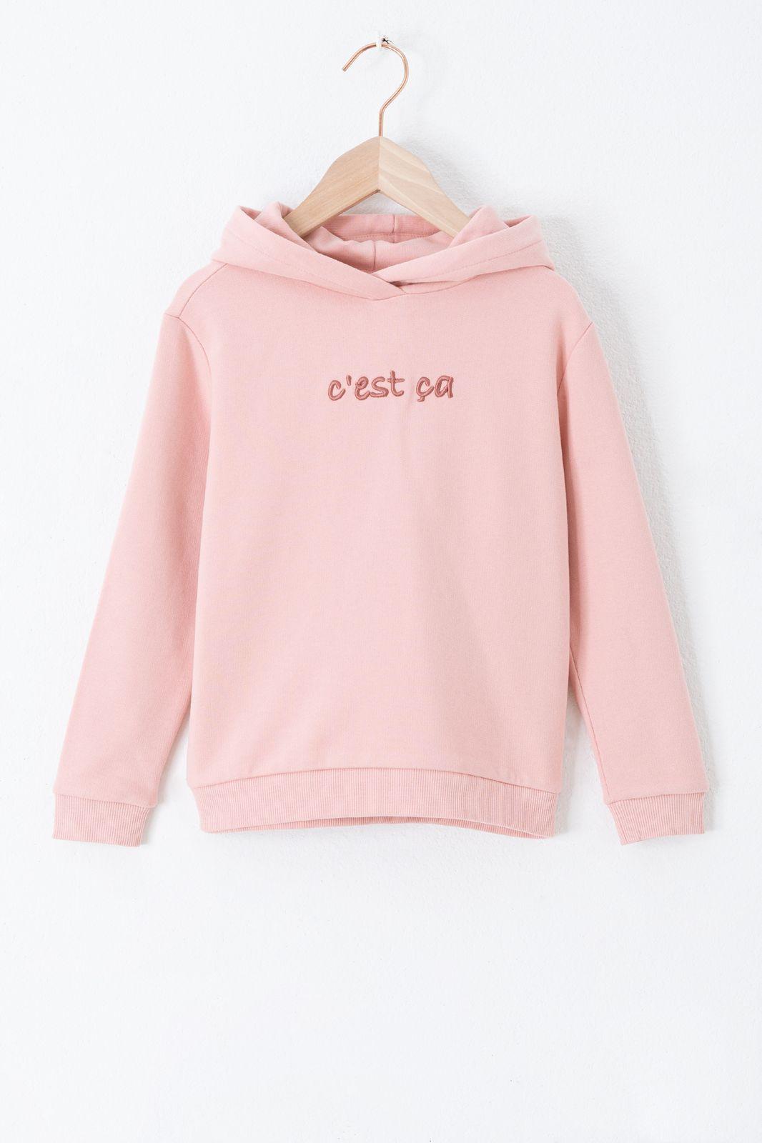 Roze hoodie 'c'est ça' - Kids | Sissy-Boy