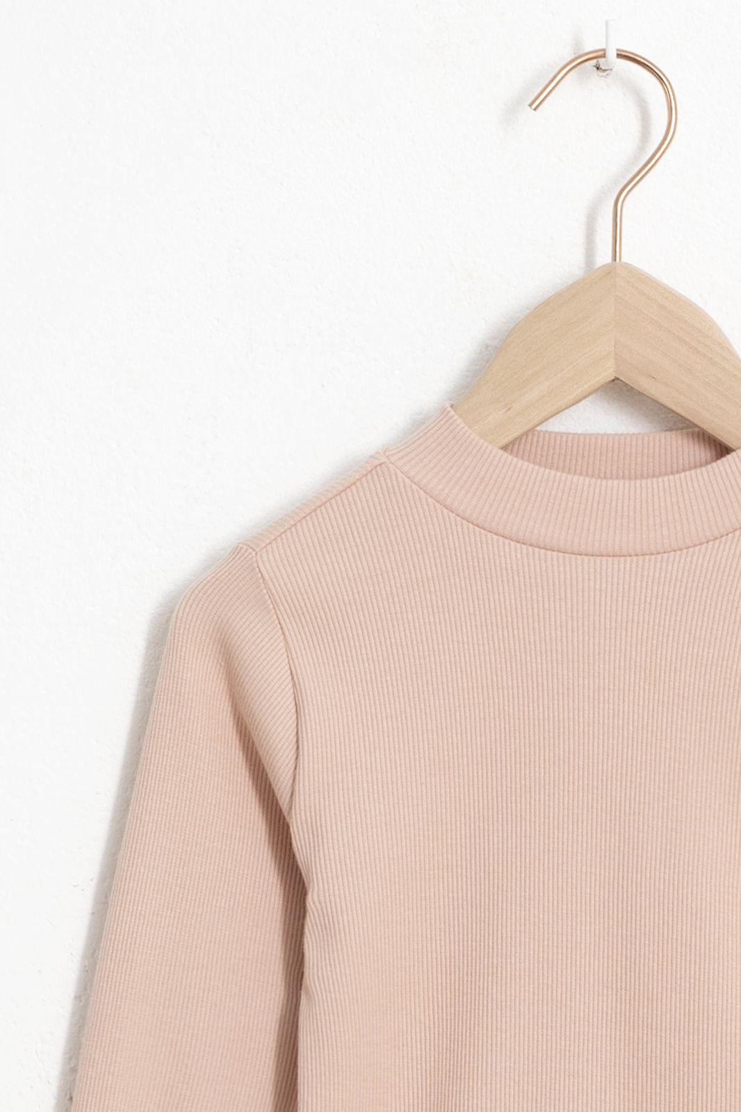 Roze rib T-shirt met lange mouwen - Kids | Sissy-Boy