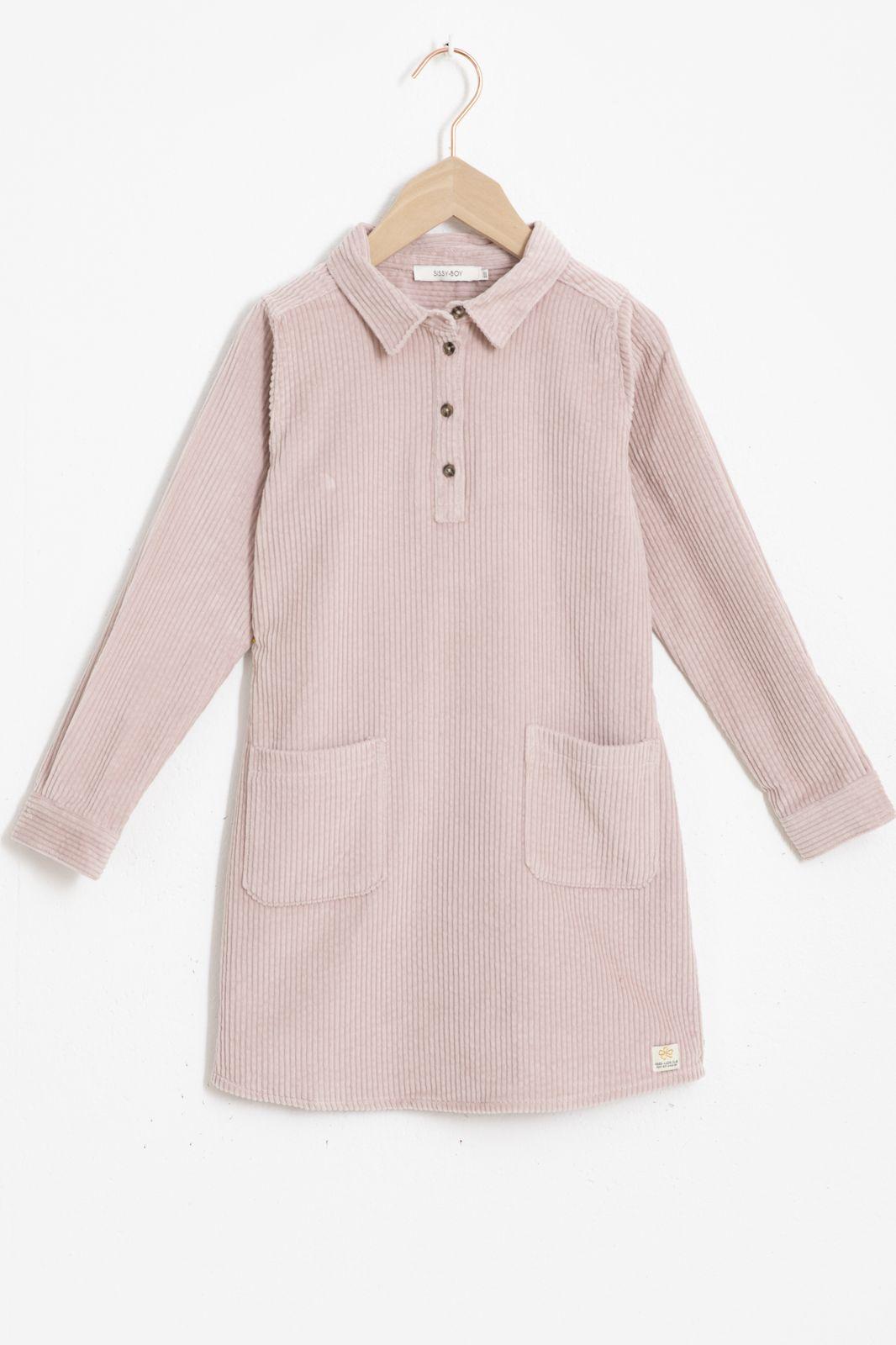 Roze rib jurkje met zakken - Kids   Sissy-Boy