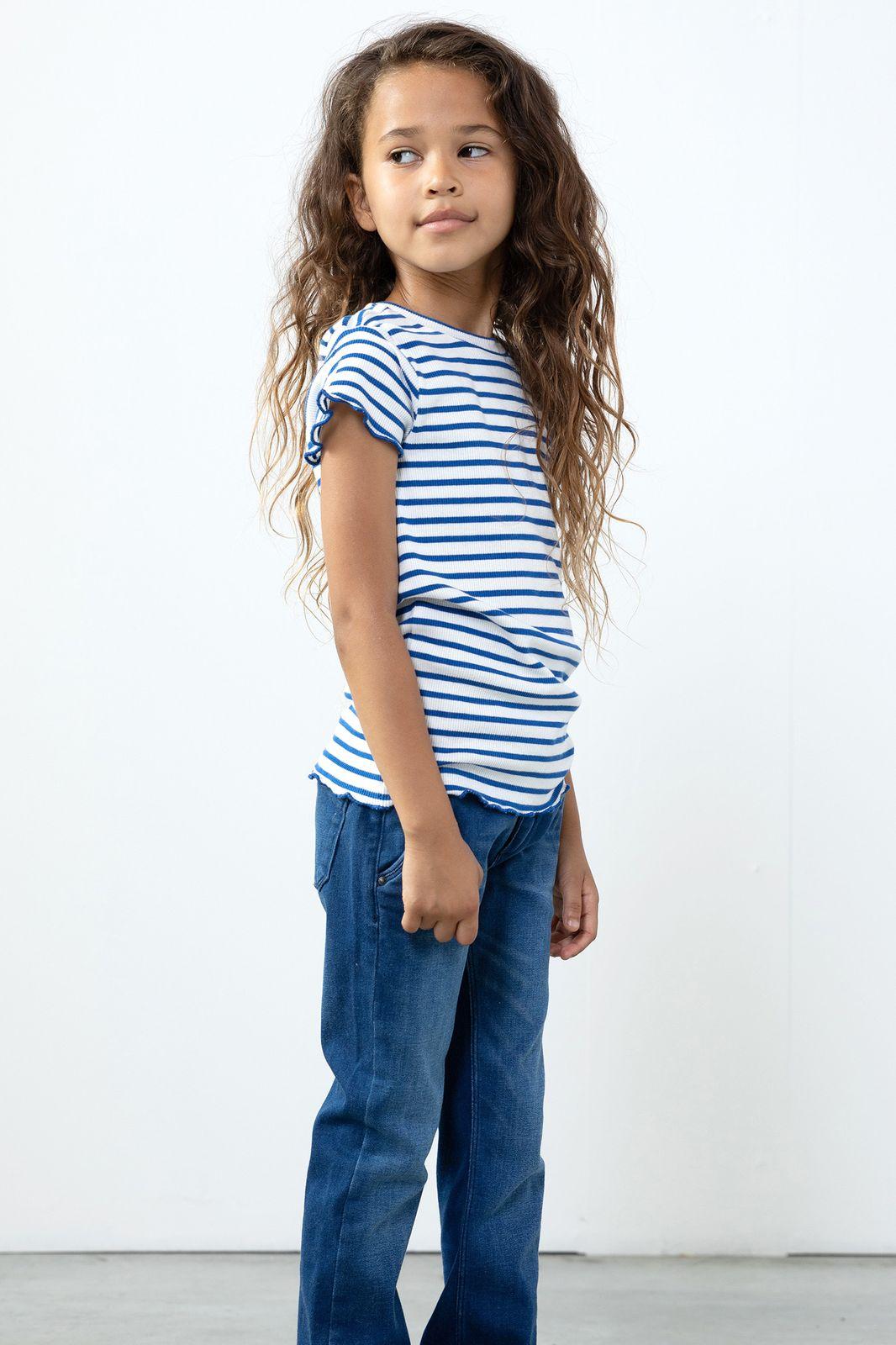 Blauw gestreept T-shirt met paard - Kids | Sissy-Boy