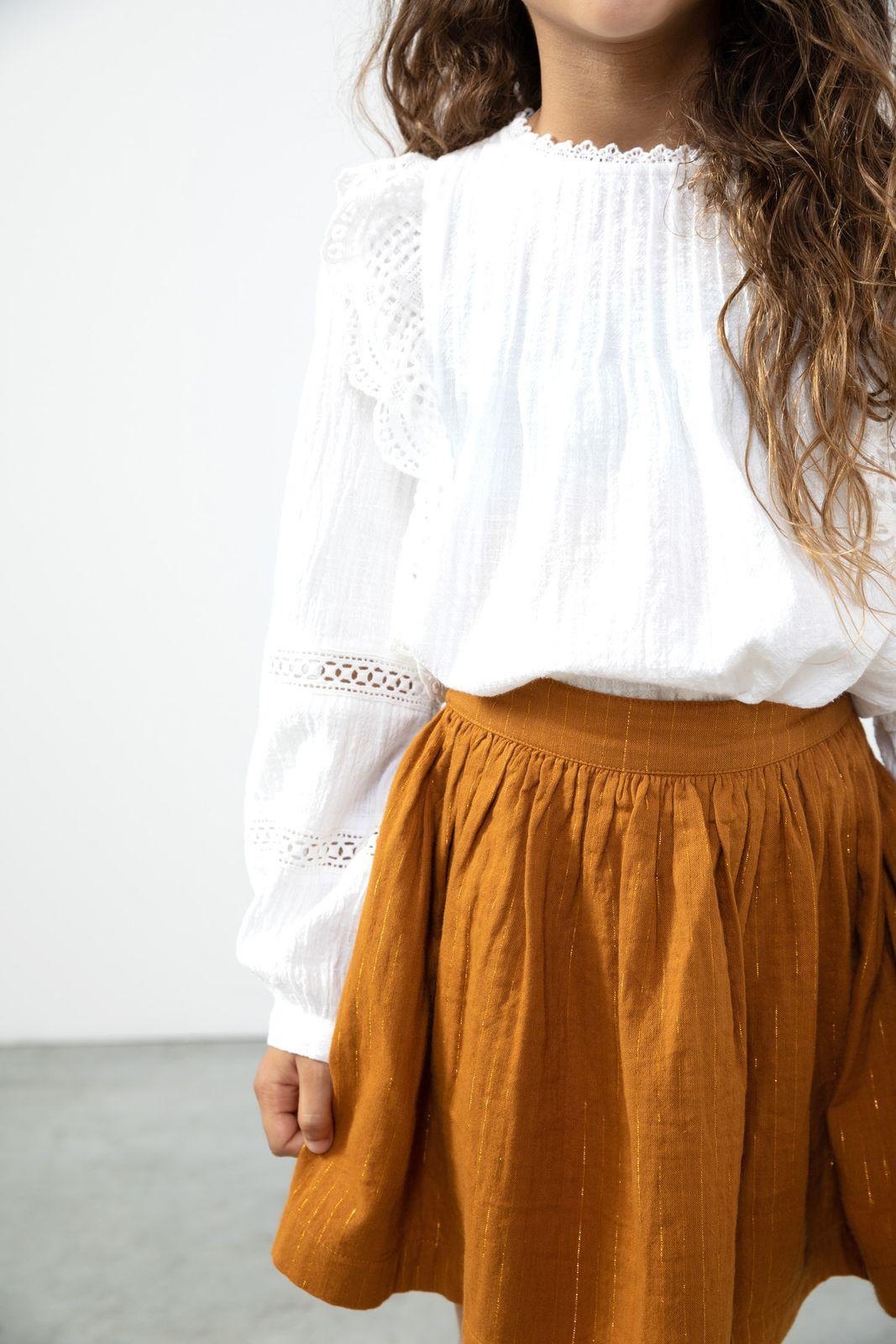 Witte blouse met ruffles en pintucks - Kids | Sissy-Boy
