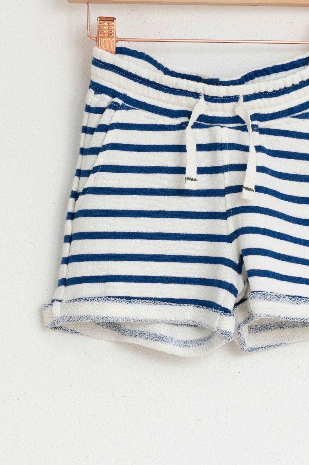 Blauw gestreepte shorts