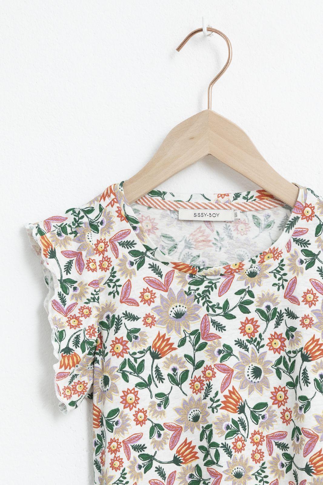 Ecru T-shirt met korte mouwen en artwork - Kids   Sissy-Boy
