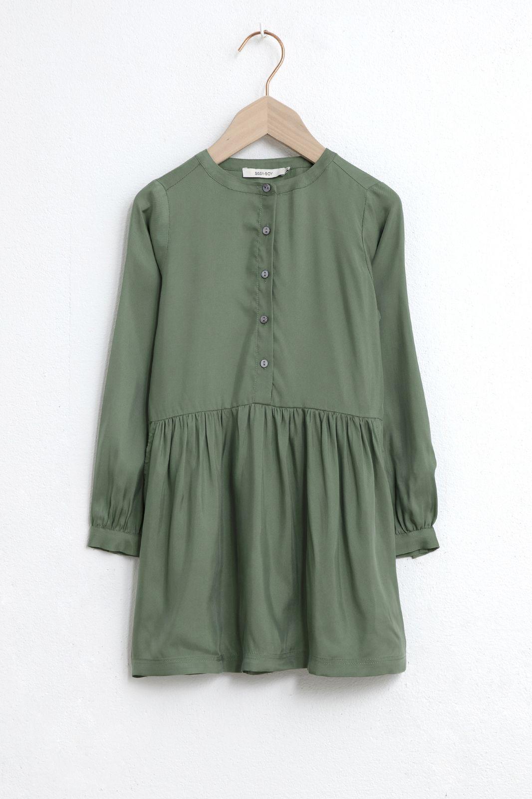 Groene jurk met lange mouw - Kids | Sissy-Boy