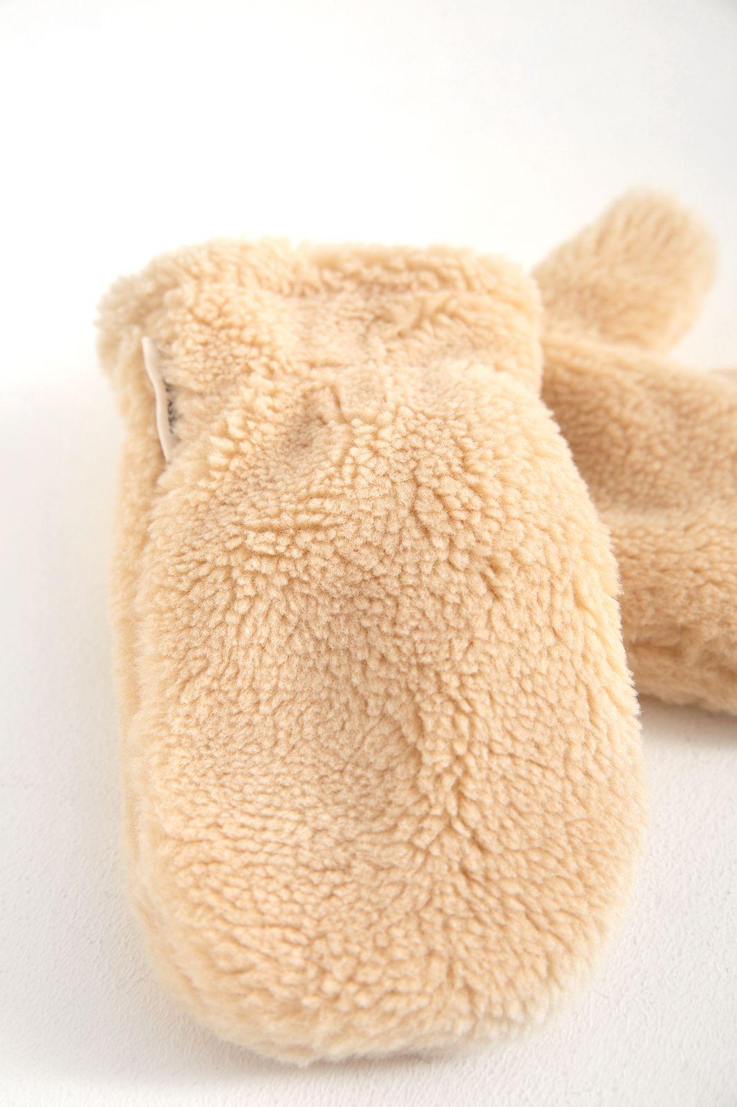 Beige teddy wanten - Kids | Sissy-Boy