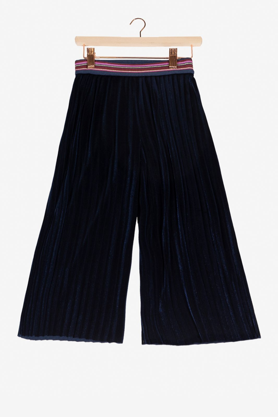 Donkerblauwe broek culotte