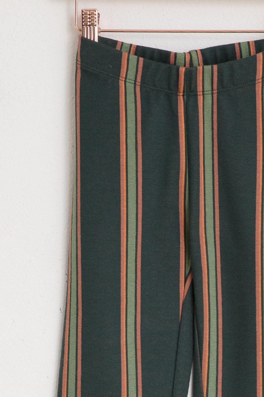 Groene flare legging strepen - Kids | Sissy-Boy
