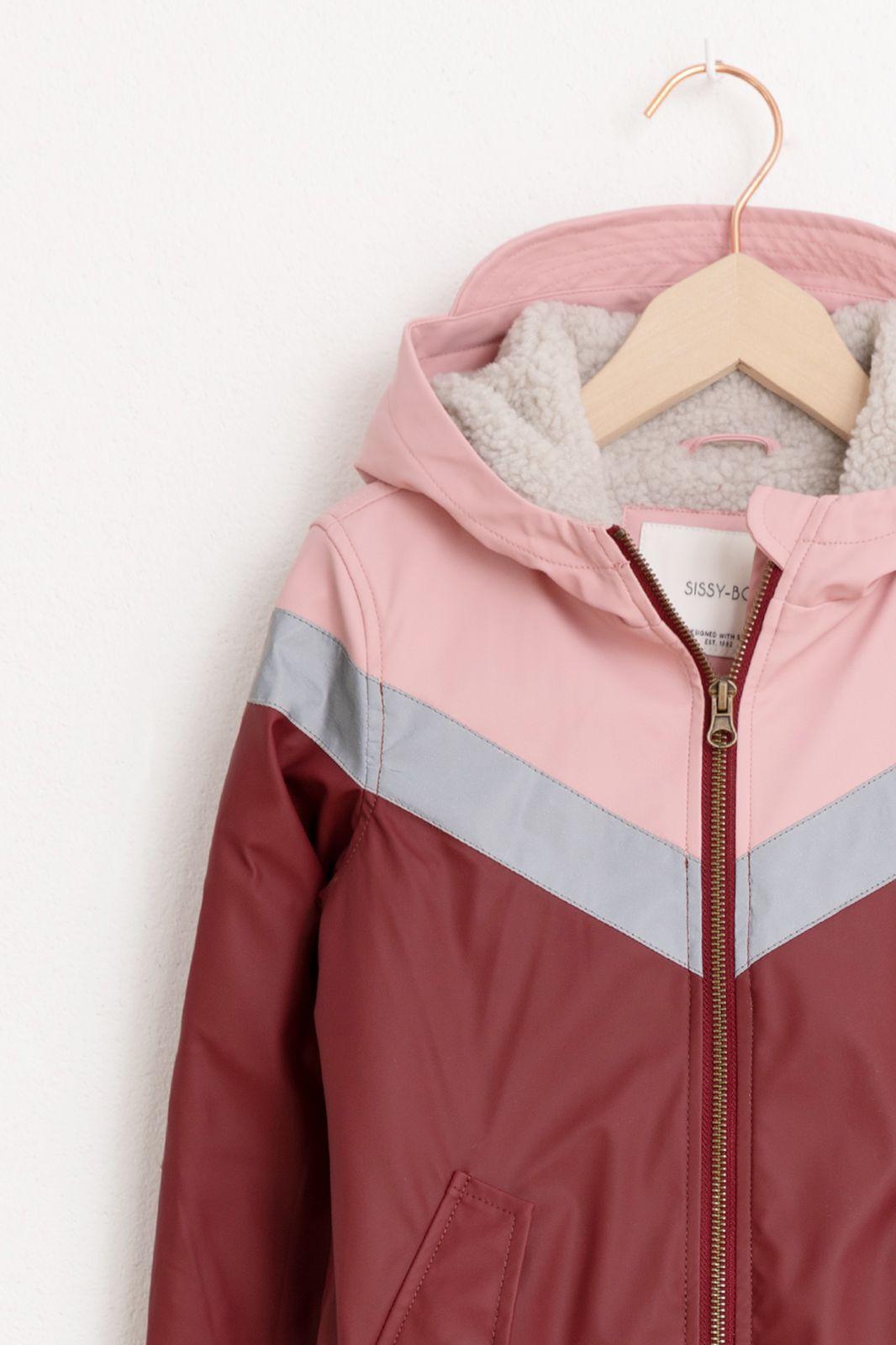Rood/roze jas color block - Kids   Sissy-Boy