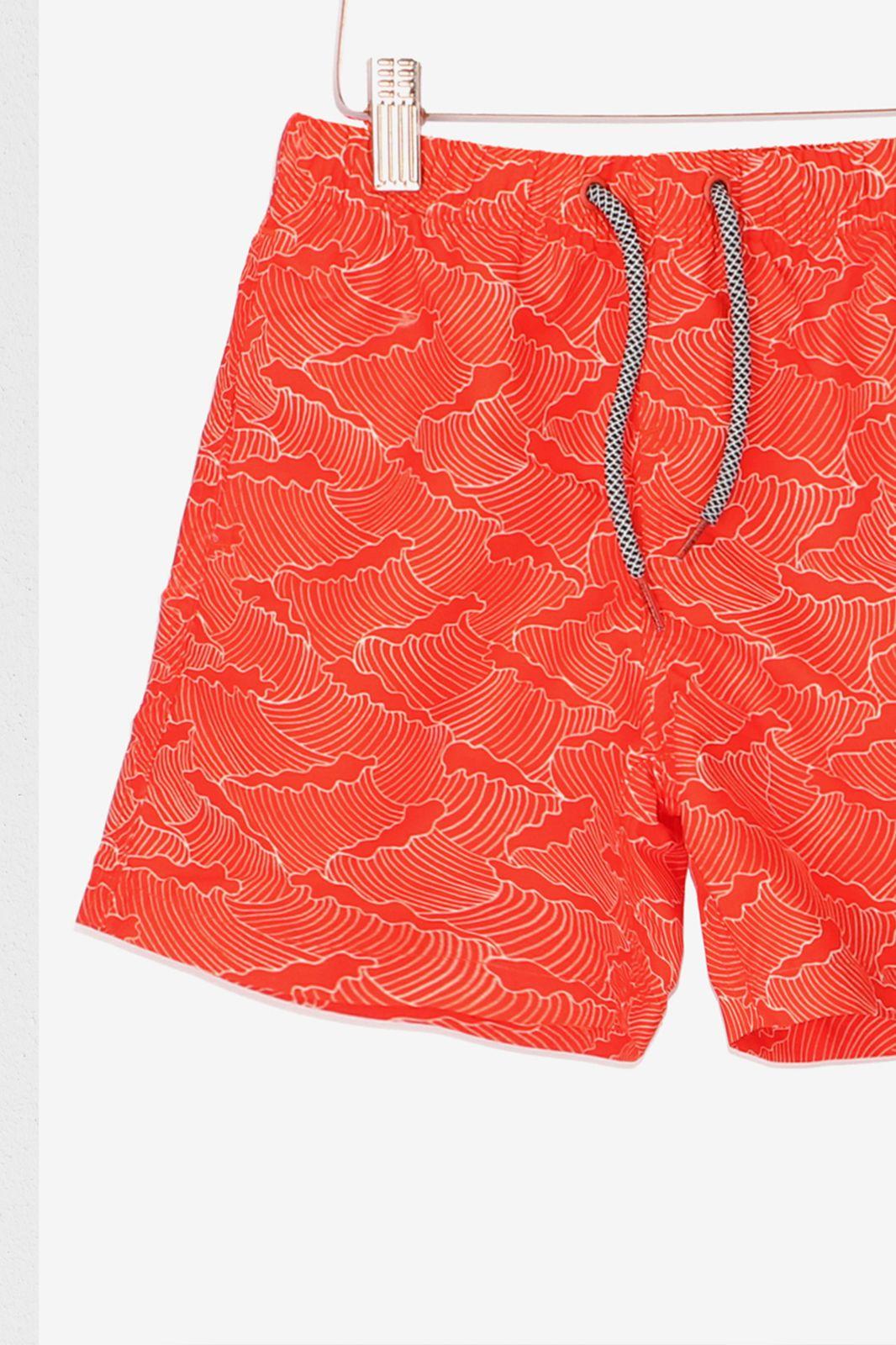 Rode zwembroek met waves - Kids | Sissy-Boy
