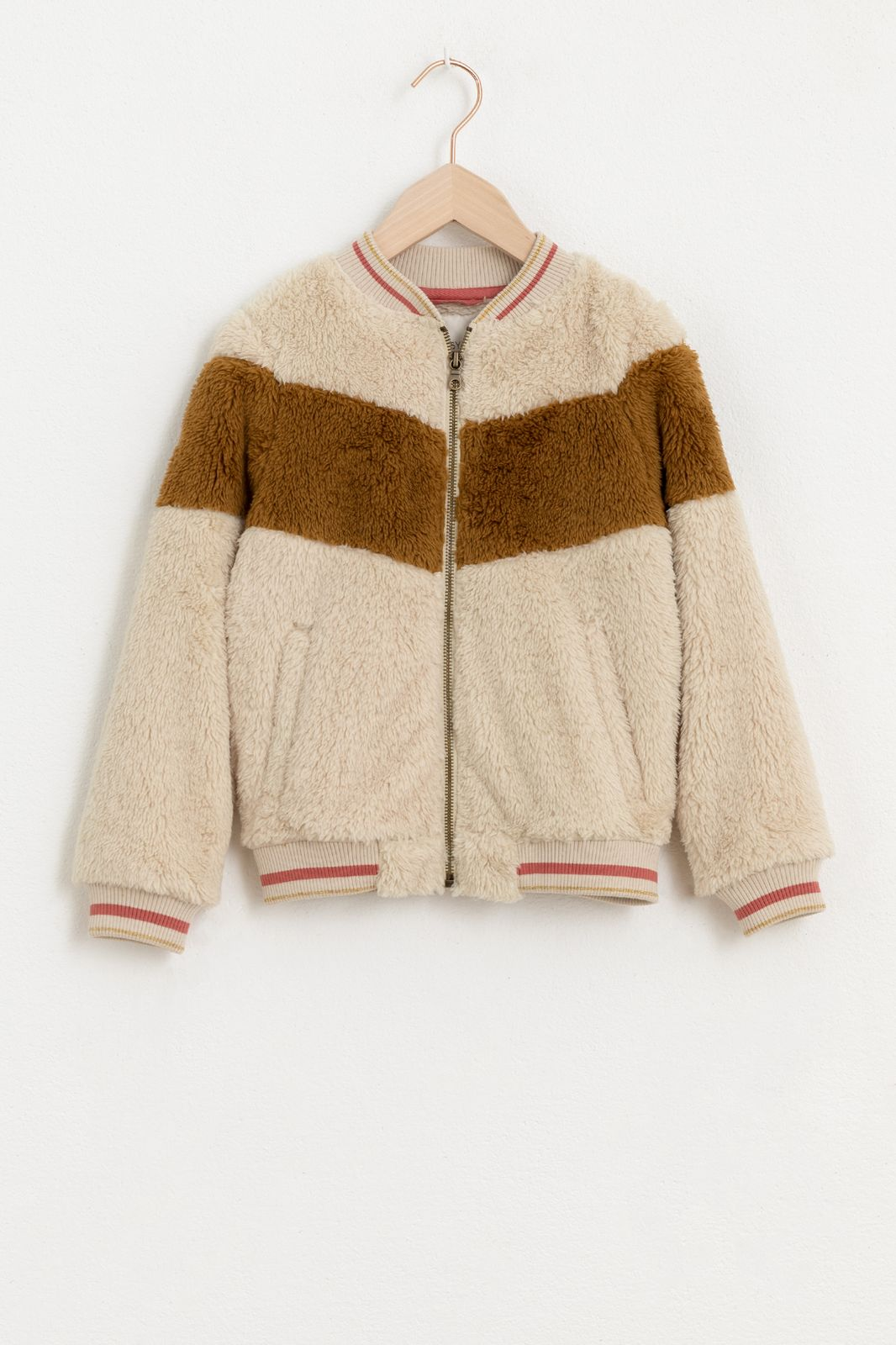 Ecru teddy jacket