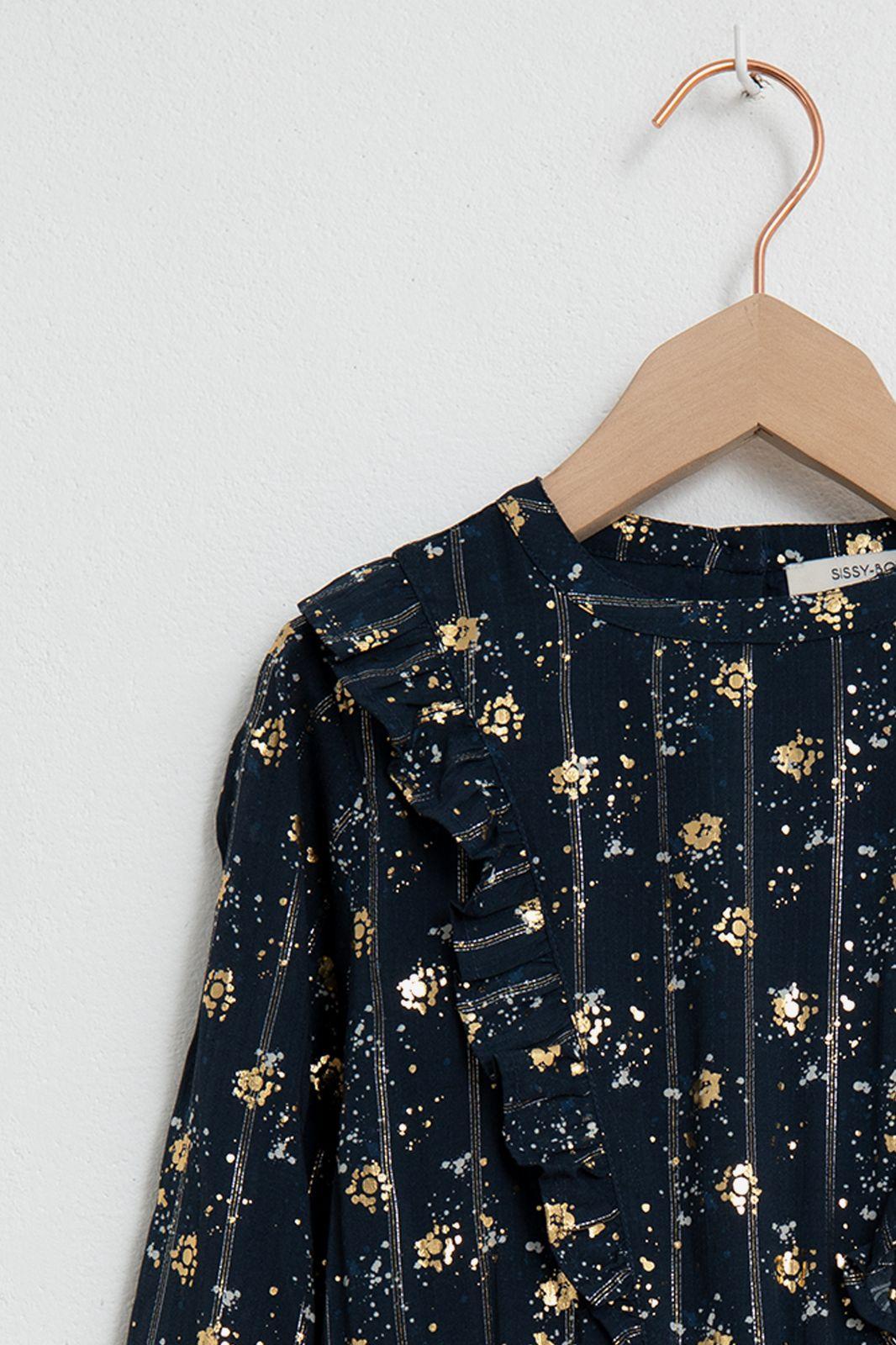 Donkerblauwe jurk sparkle - Kids | Sissy-Boy