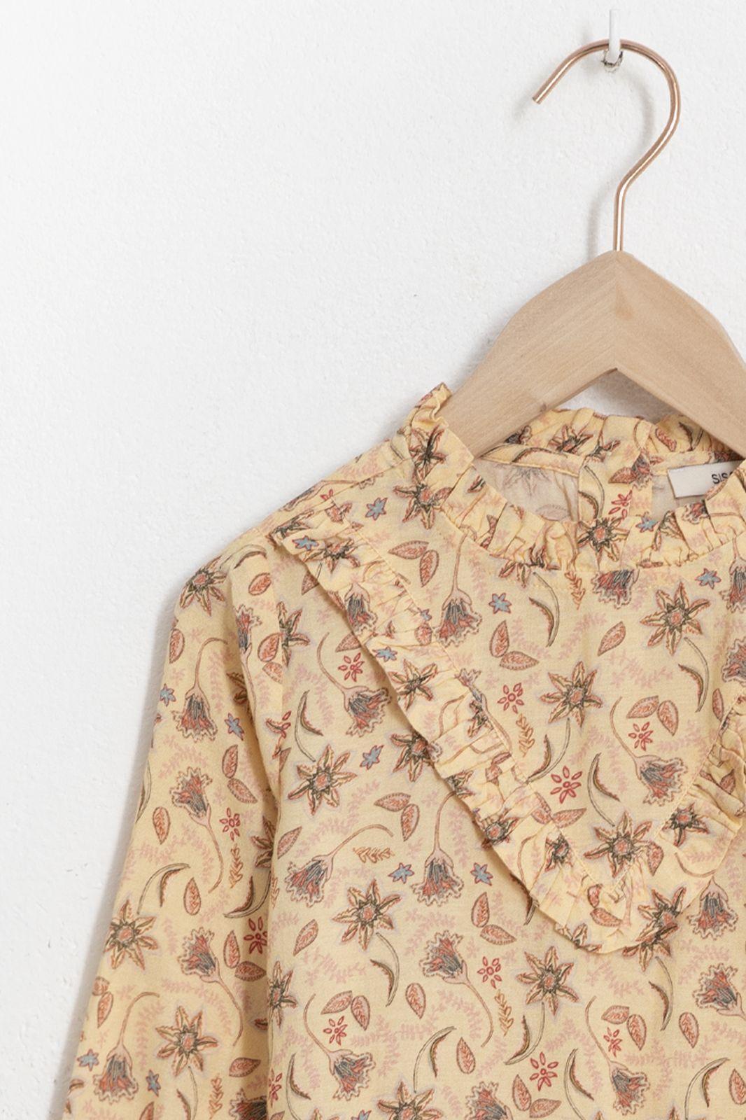 Gele blouse met all over paisley print en ruffles - Kids | Sissy-Boy