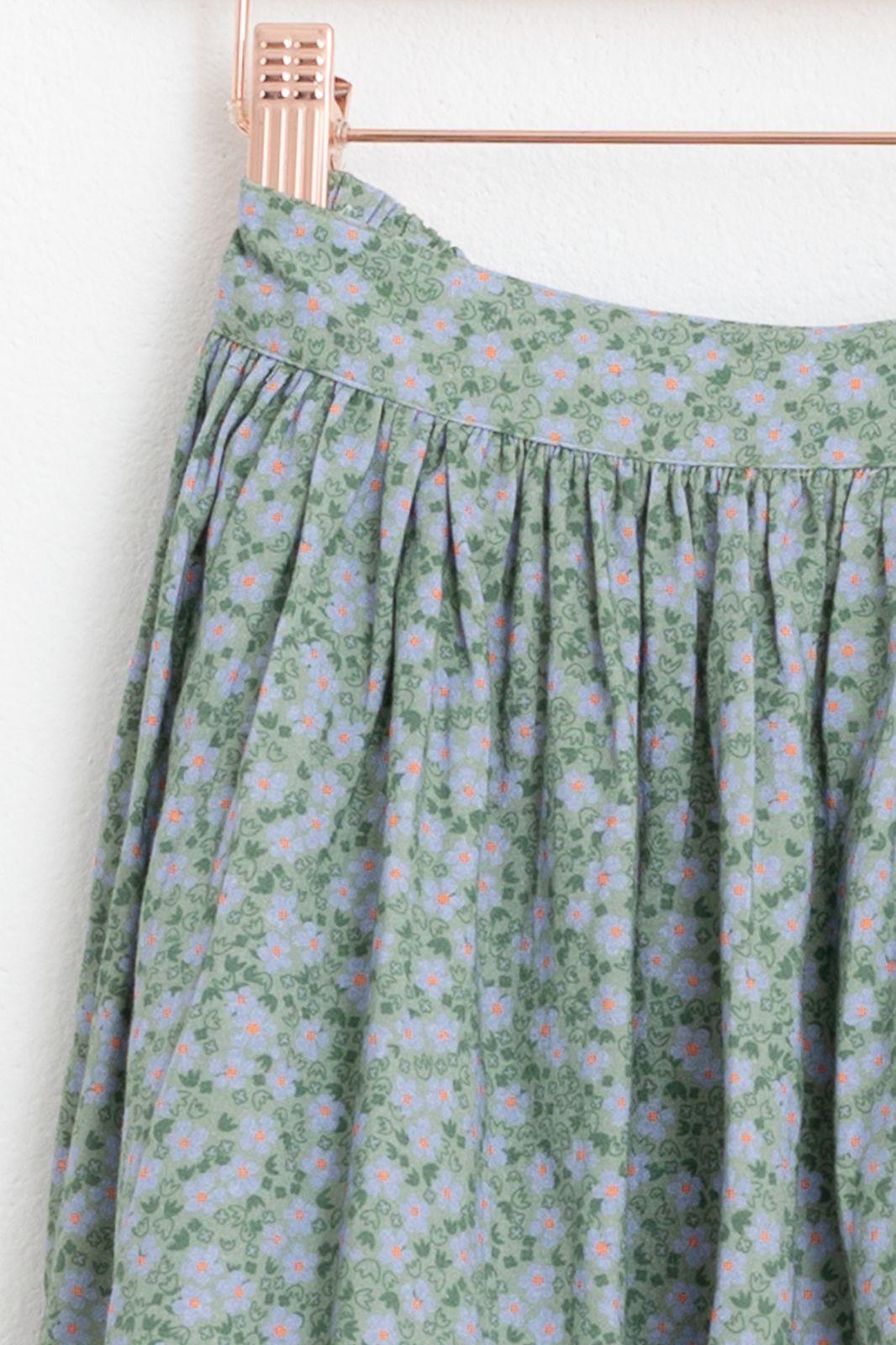 Groene mini rok met all over print - Kids | Sissy-Boy