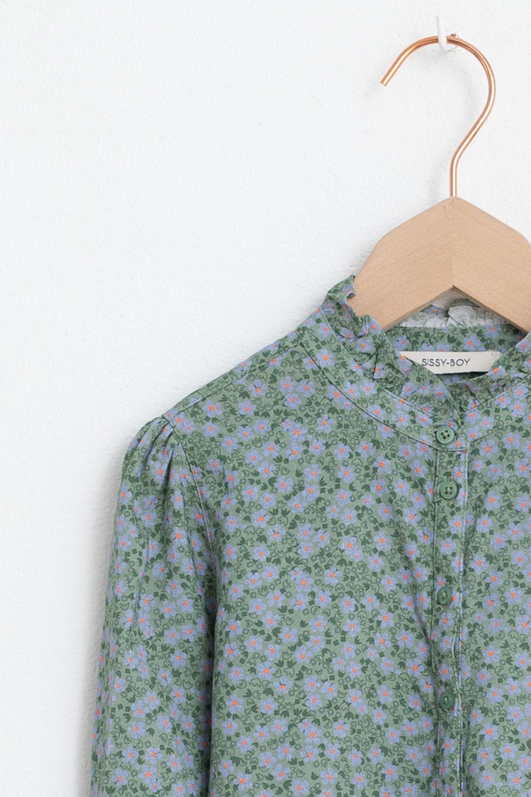 Groene blouse met all over print - Kids   Sissy-Boy