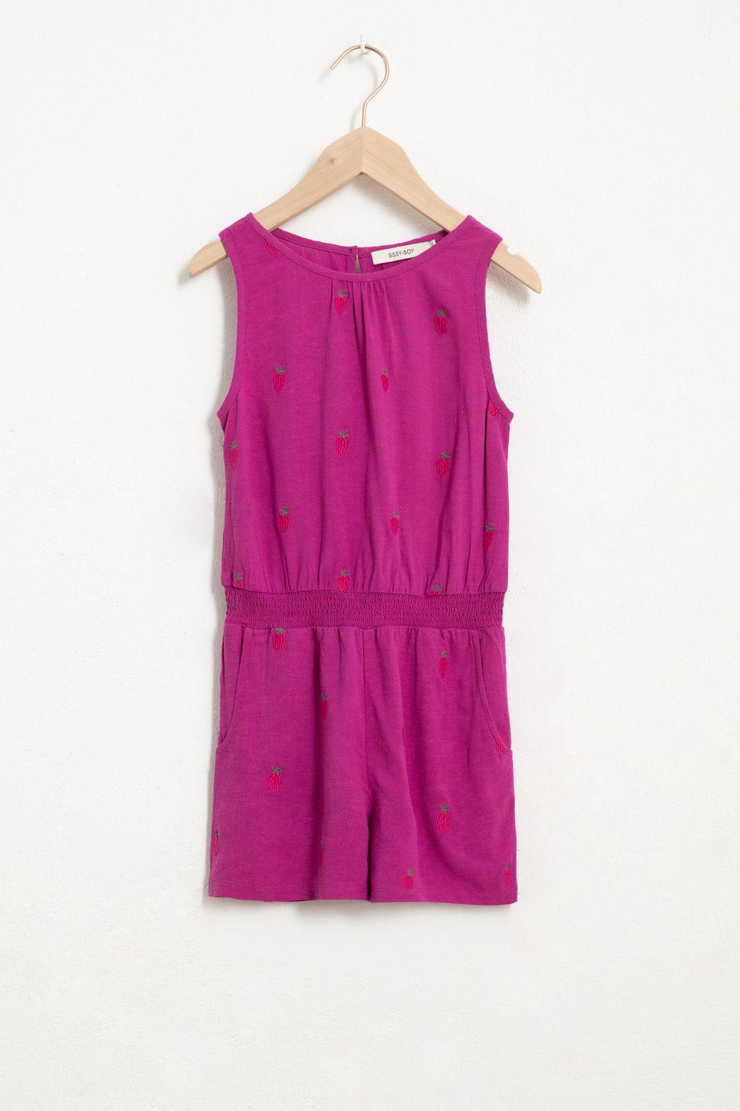 Paarse jumpsuit met all over berry print - Kids | Sissy-Boy