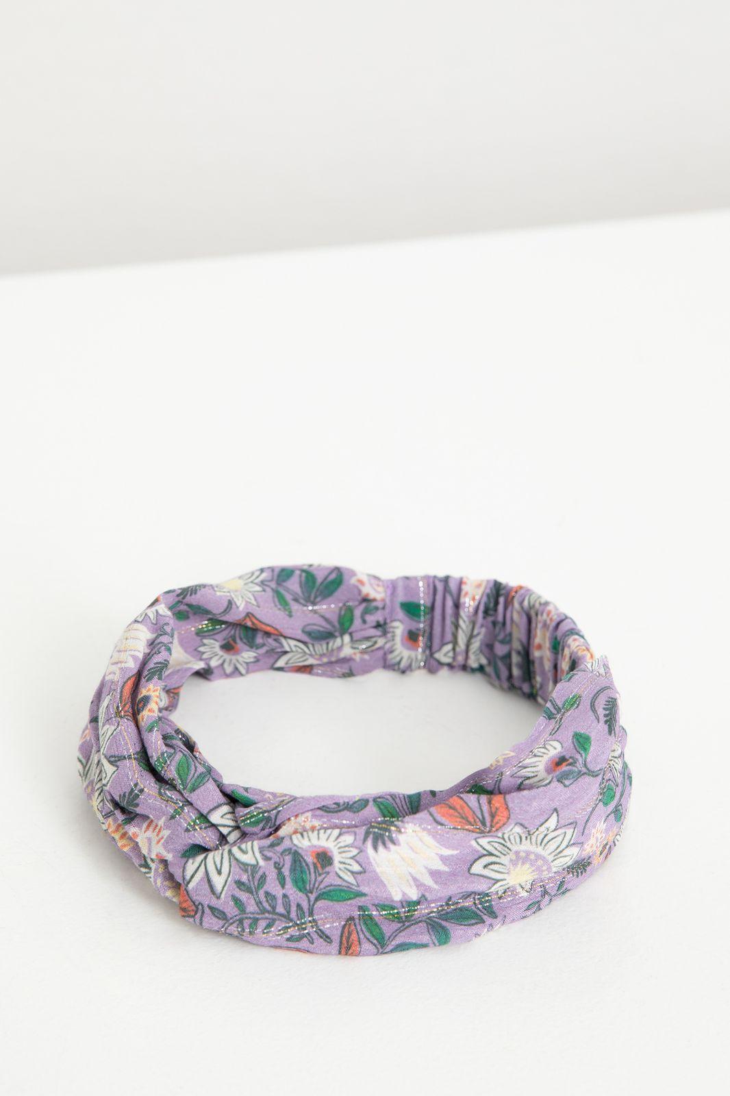 Paarse haarband met all over bloemenprint - Kids   Sissy-Boy