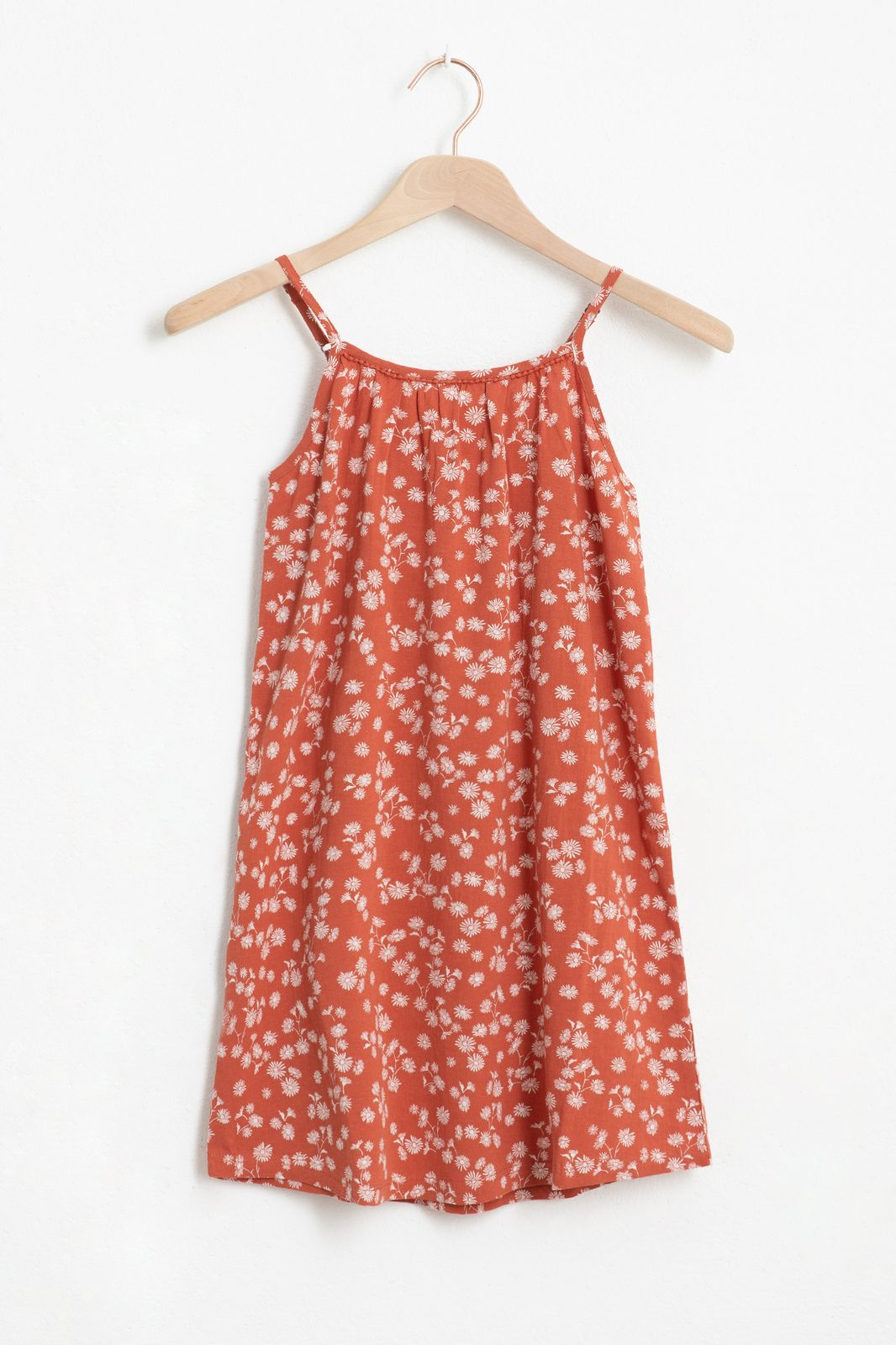 Rode jurkje met all over bloemenprint - Kids | Sissy-Boy