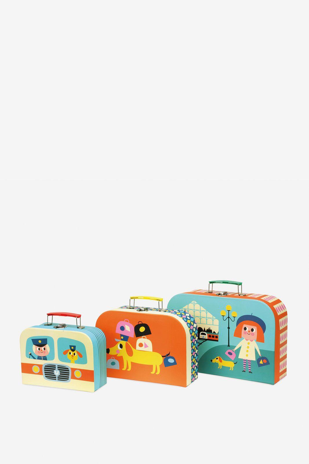 Vilac set van drie in elkaar passende koffers - Homeland | Sissy-Boy