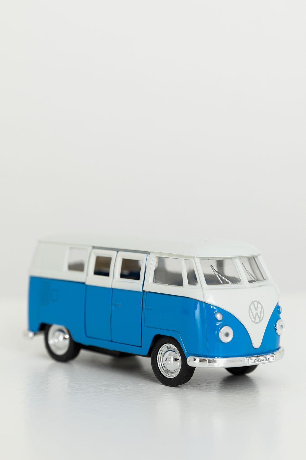 Welly blauwe Volkswagen bus